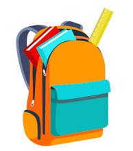 Books And Scale Inside Open Bagpack Back To School Clipart